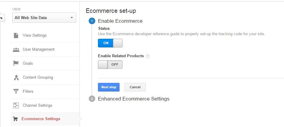E-commerce Setting
