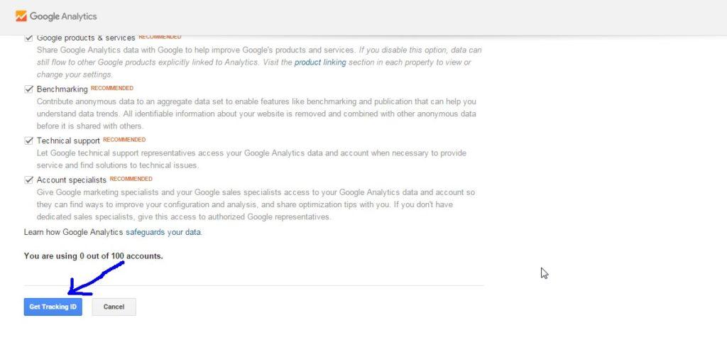 Google Analytics Tracking Code Setup 2