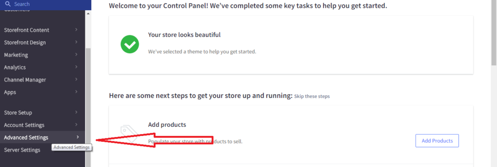 Bigcommerce Conversion Step 1