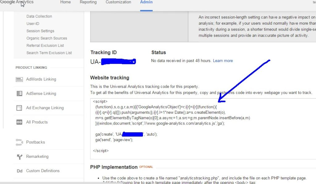 Google Analytics Tracking Code Setup 3