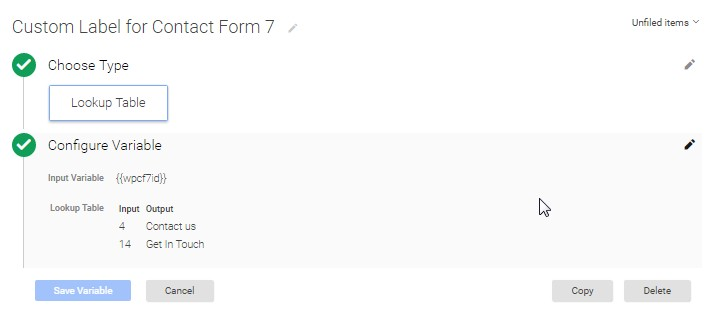 Contact Form 7 Lookup Table